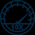 10x Faster Speeds