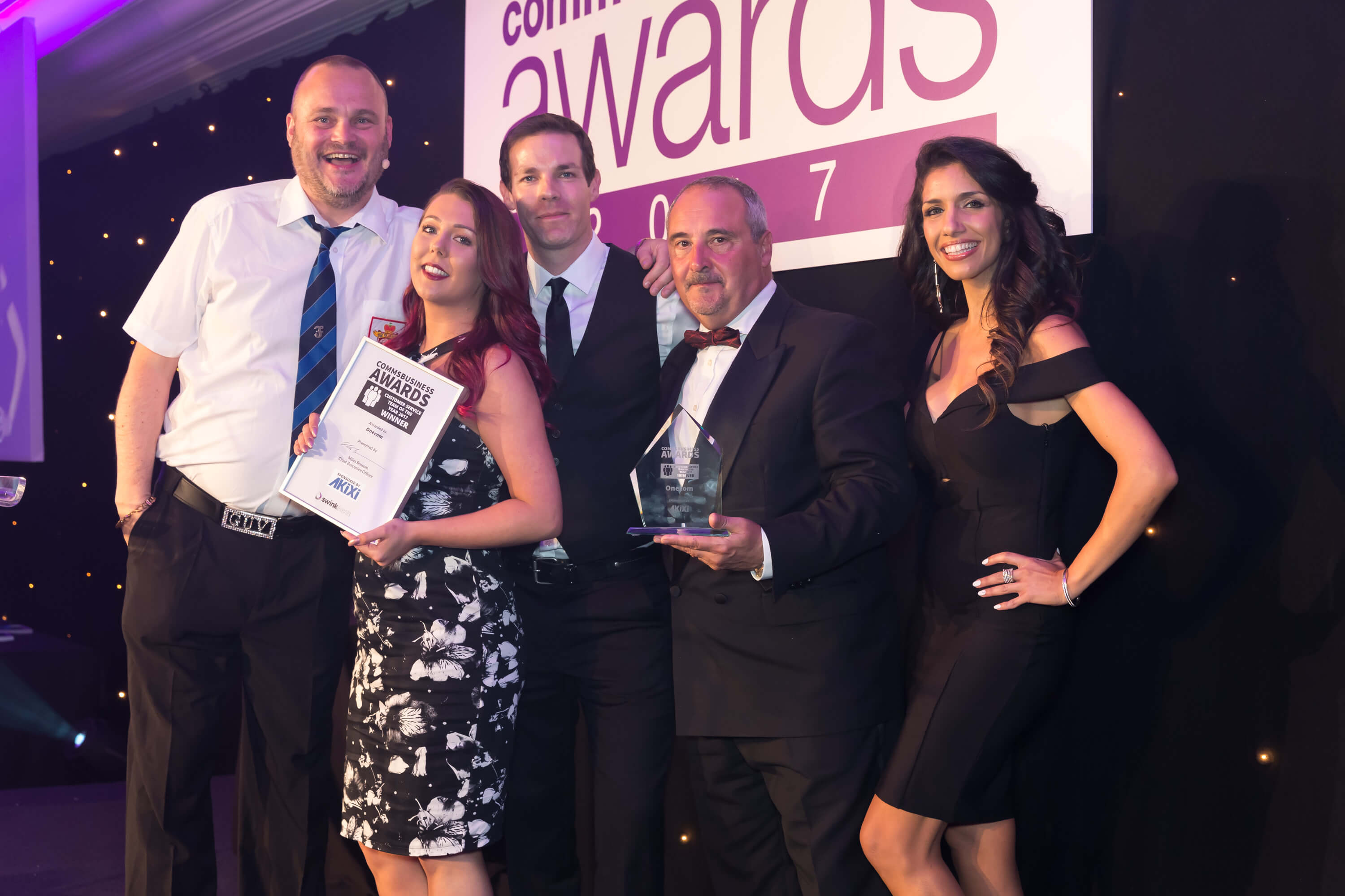 Onecom's customer services recognised with major industry award