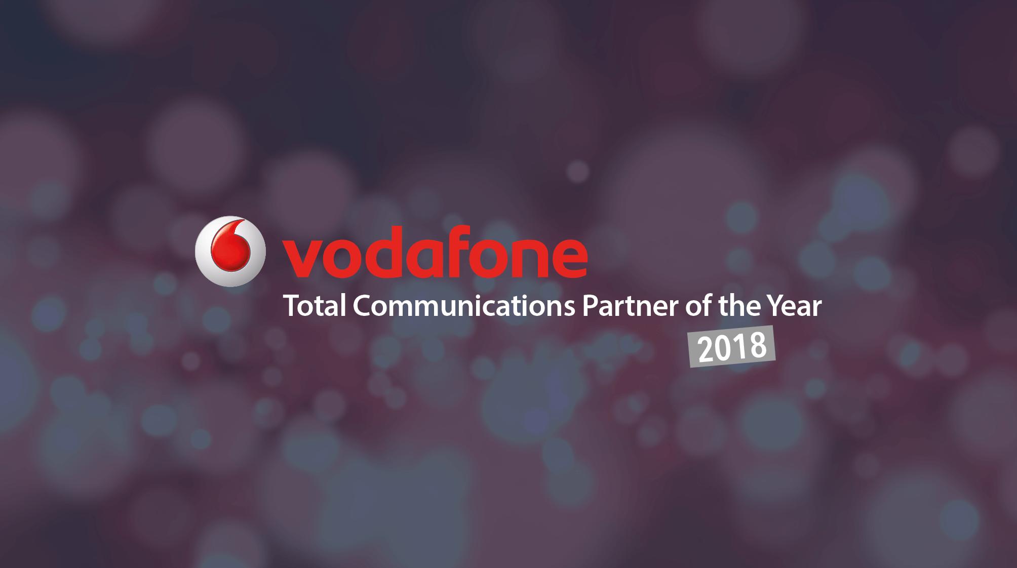 Onecom wins Total Communications Partner 2018 award at Vodafone Partner of the Year Awards 2018