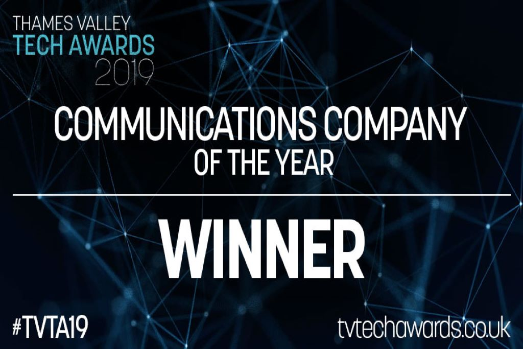 Onecom Wins Communications Company of the Year at the Thames Valley Tech Awards 2019 – Onecom
