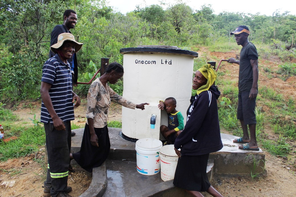 Well, what's this? Our contribution to bringing clean water to a community.
