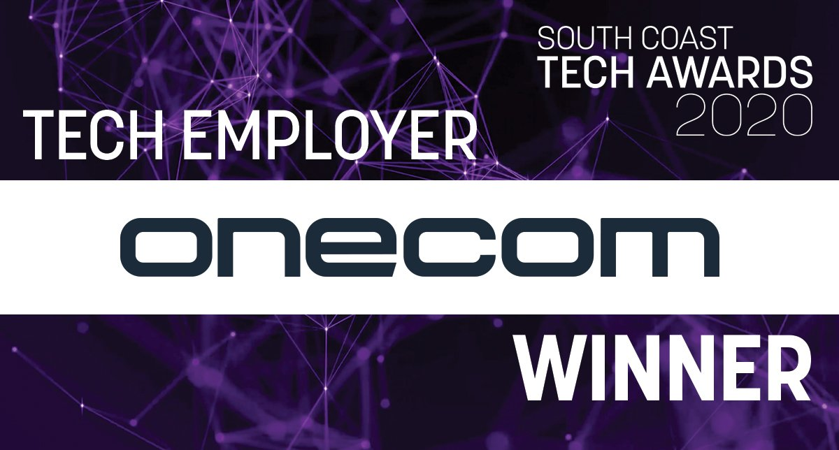 Onecom is a great place to work – and we've got the award to prove it!