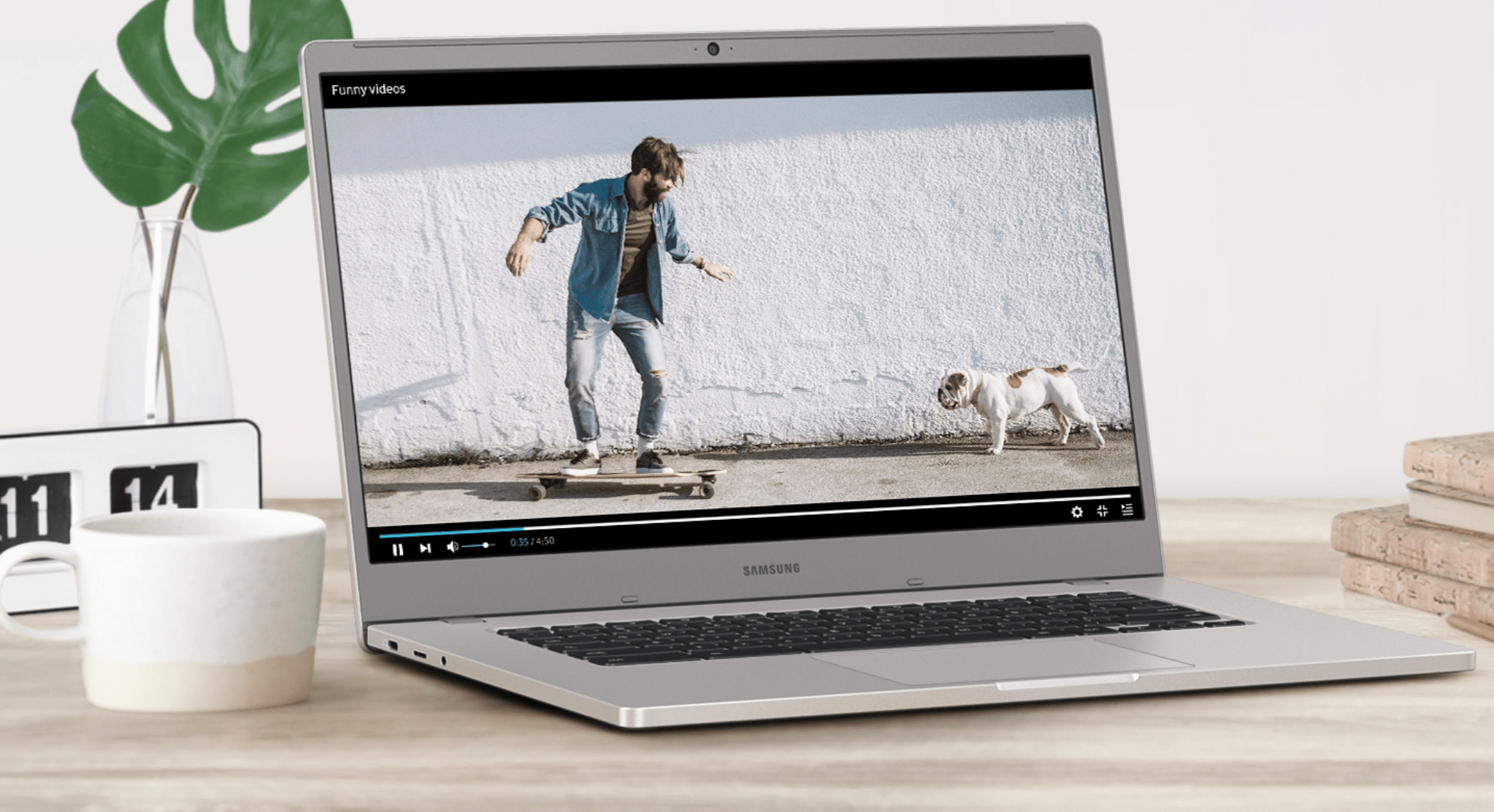 Work smarter with Samsung Chromebook 4 and 4+ - now available at Onecom